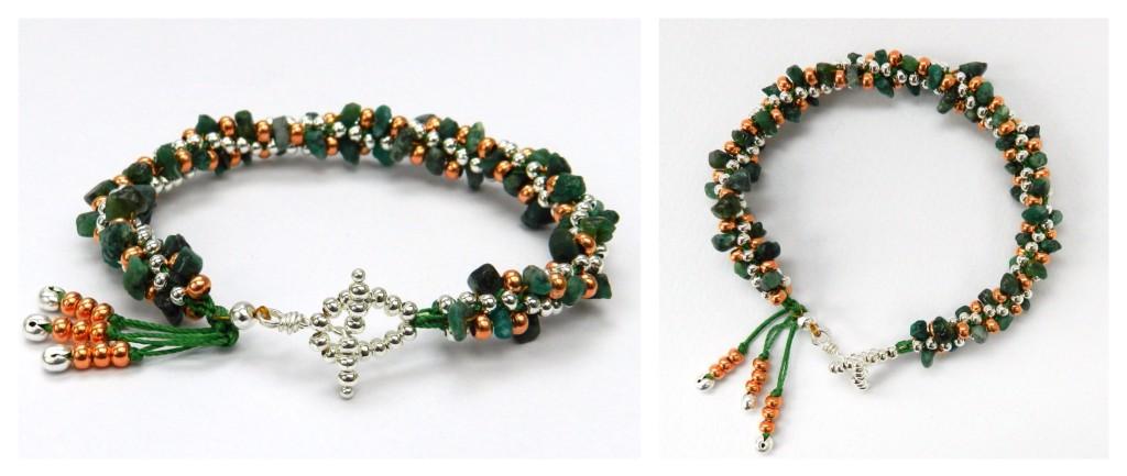 Emerald kumihimo bracelet