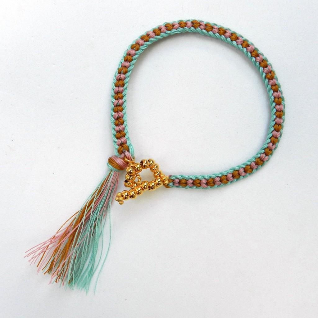 Half Round Braid Kumihimo Bracelet