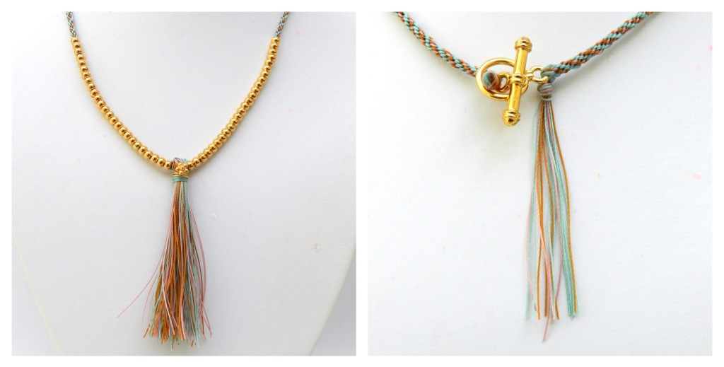 Tassel kumihimo necklace