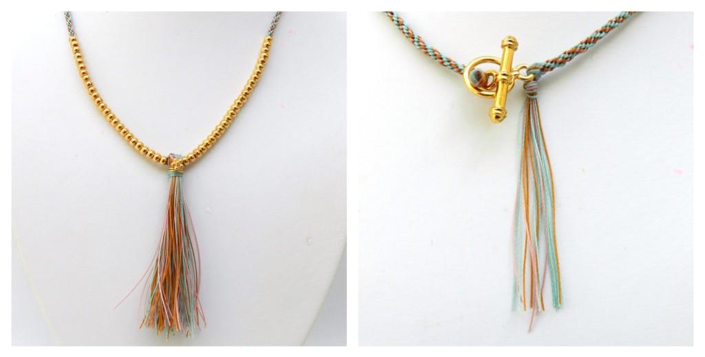 Tassel kumihimo necklace