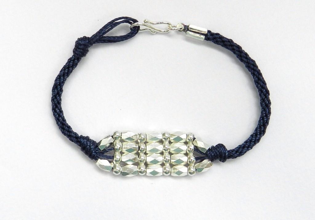 kumihimo spacer bar bracelet
