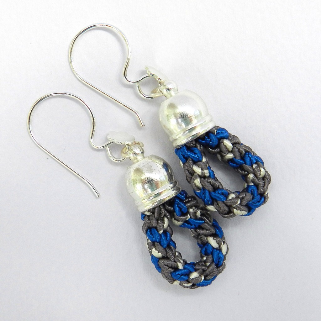 Soutache kumihimo earrings
