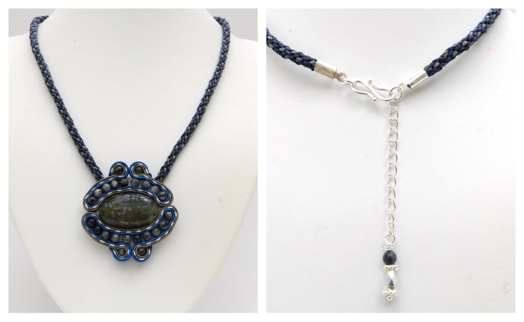 Kumihimo soutache necklace