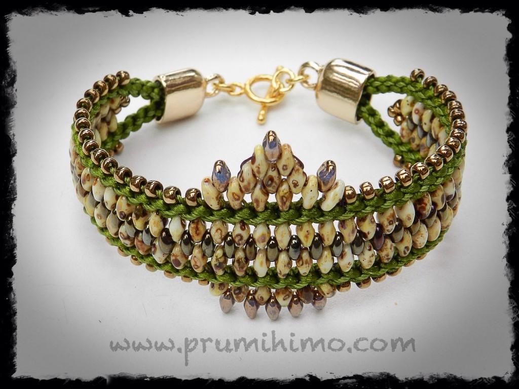 Beaded Opulence kumihimo bracelet