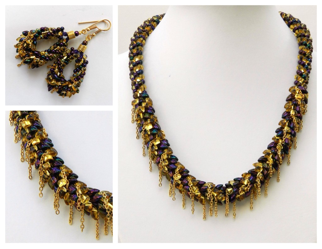 Cascade kumihimo necklace