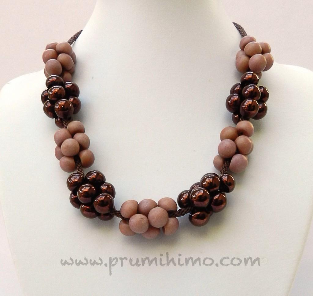 Kumihimo Mushroom Bead Necklace