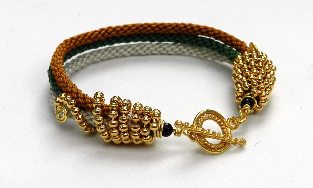 Triple Kumihimo Bracelet