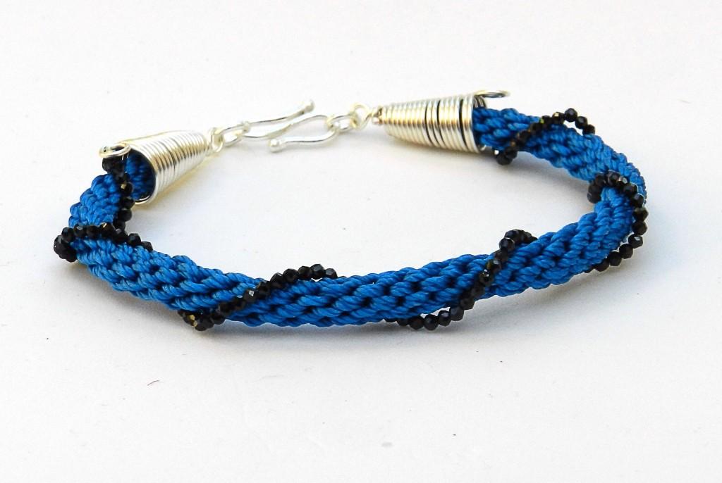 Spiral Spinel Bracelet