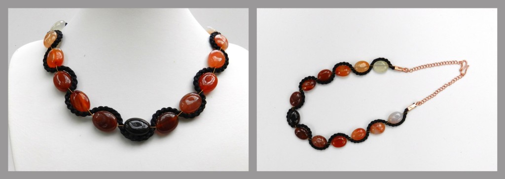 Carnelian kumihimo necklace