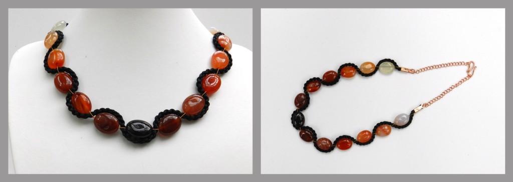 Carnelian kumihimo necklace