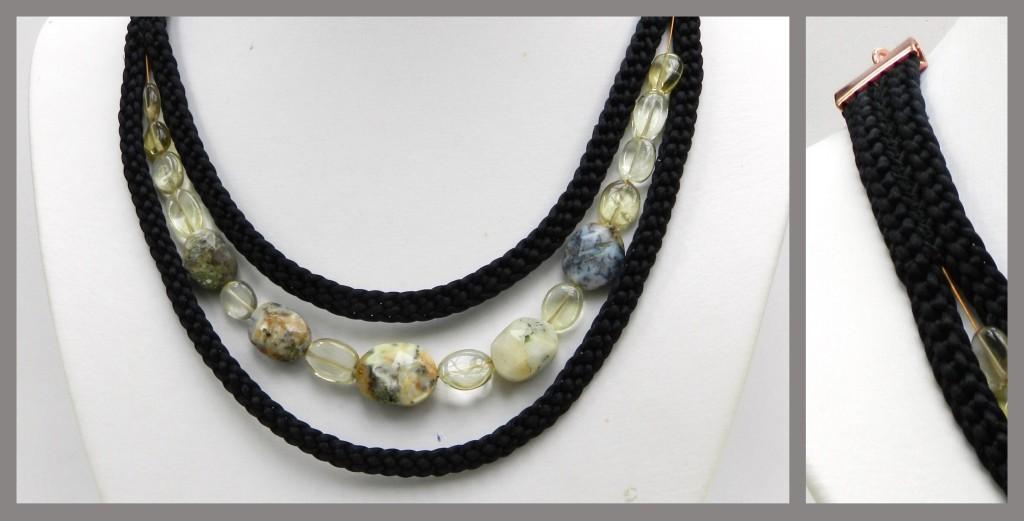 Dendrite opal kumihimo