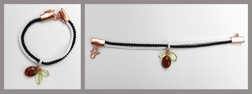 Carnelian kumihimo bracelet