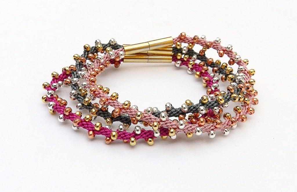 kumihimo stacker bracelets