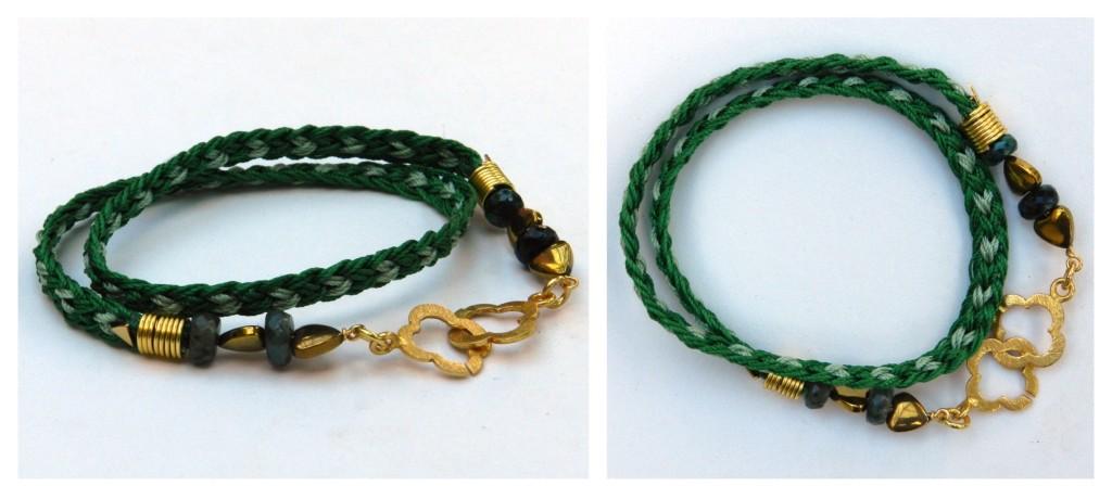Kumihimo Double Wrap Bracelet