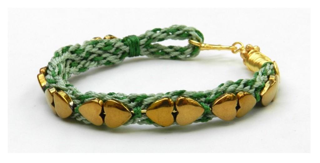kumihimo heart bracelet