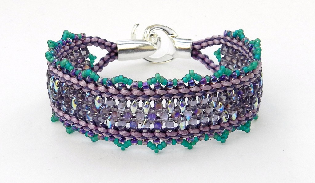 Windows embellished kumihimo bracelet