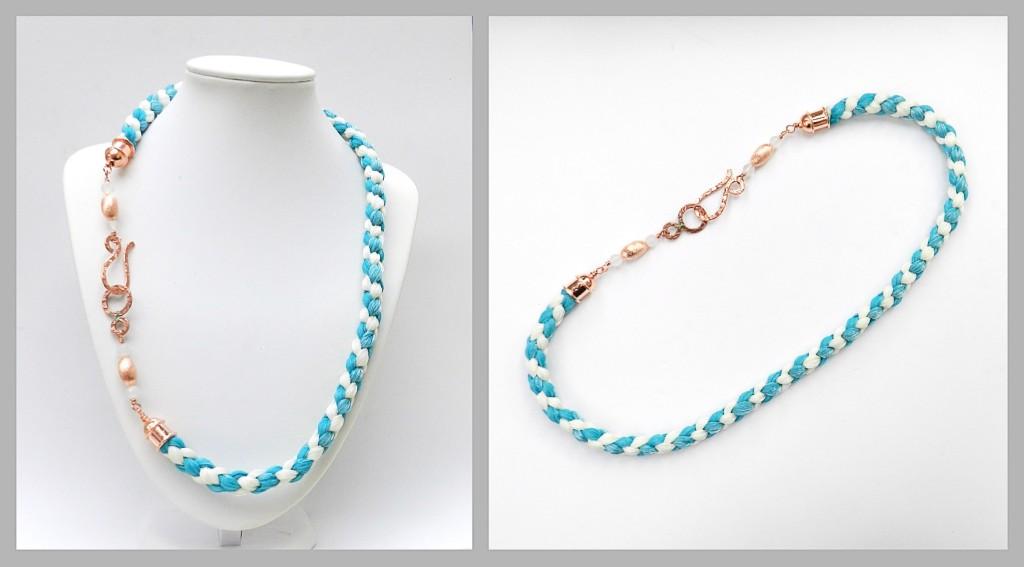 4 Cord Kumihimo Necklace