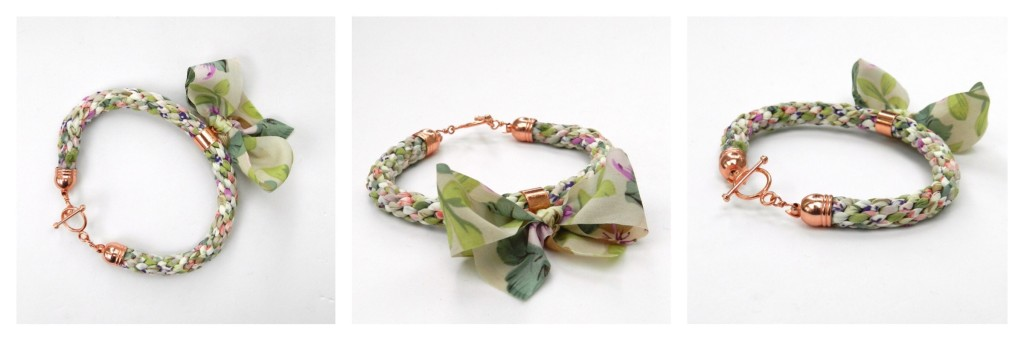 Kumihimo bow bracelet