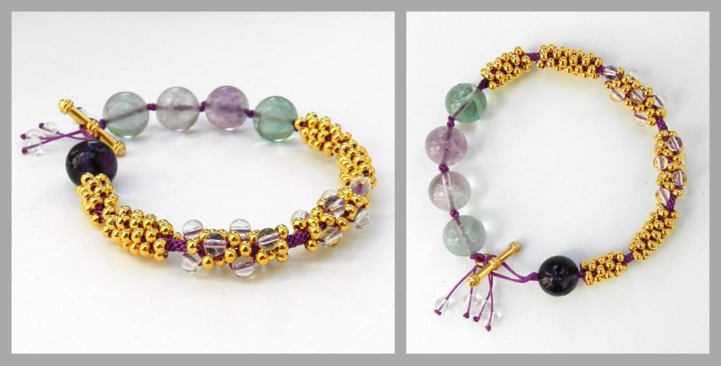 Fluorite kumihimo bracelet