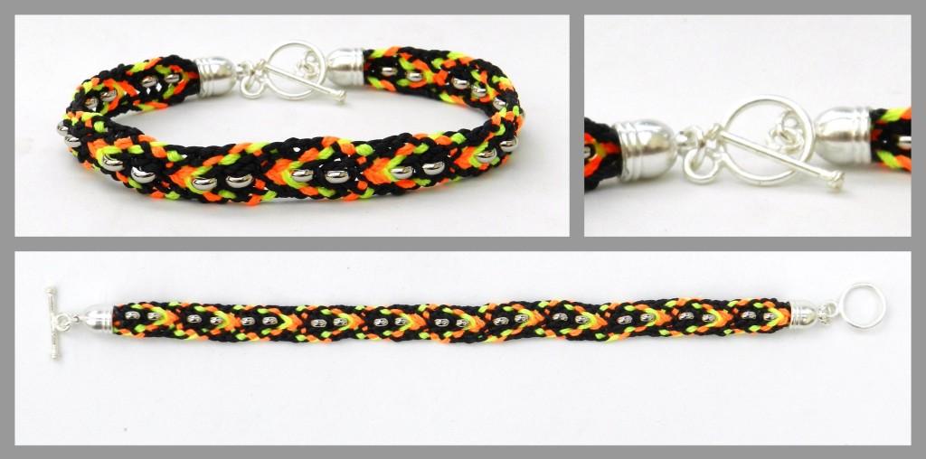Flat braid bracelet