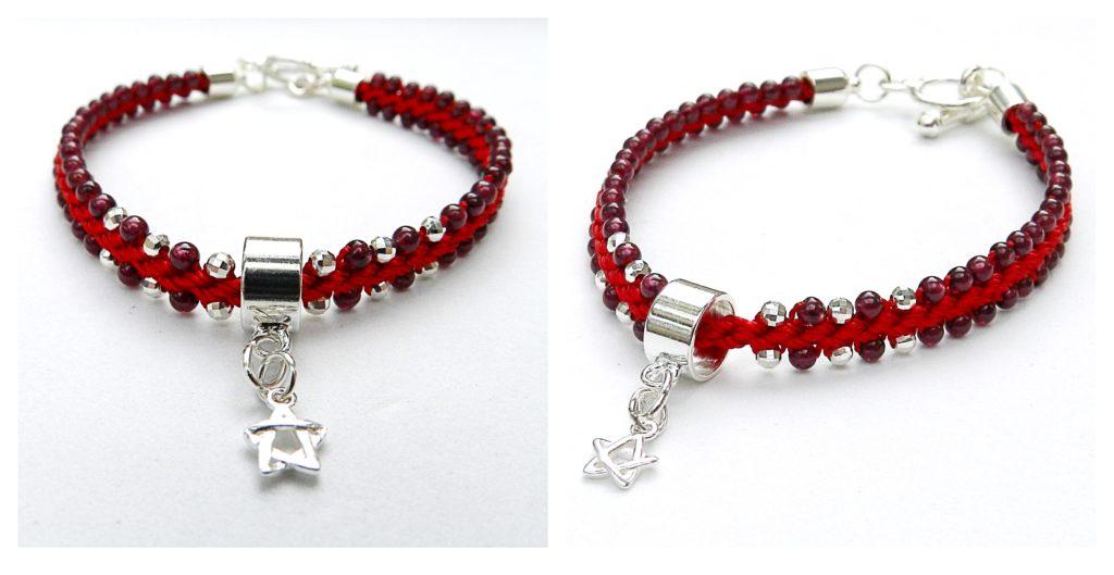 Star kumihimo bracelet