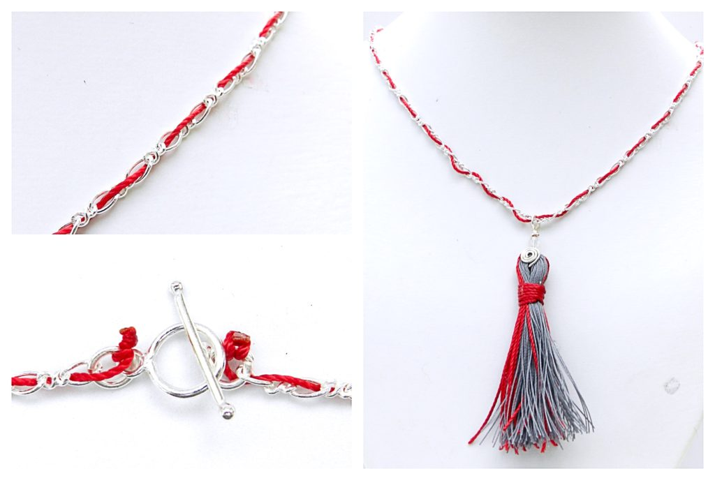 Kumihimo Tassel Necklace