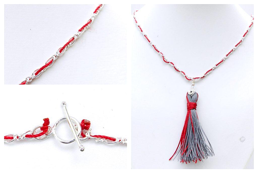 Kumihimo Tassel Necklace