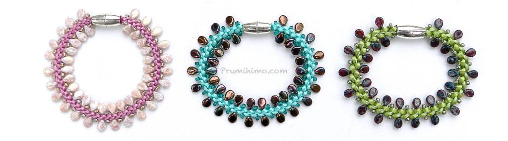 Pip bead Prumihimo bracelet