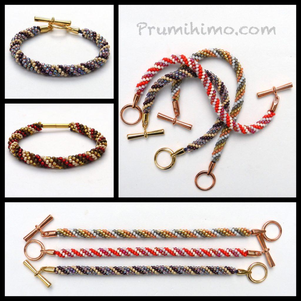 4 colour spiral kumihimo