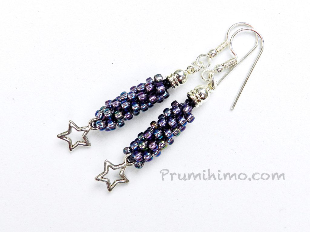 kumihimo earrings