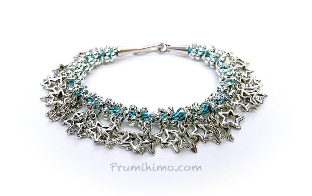 Kumihimo star charm bracelet