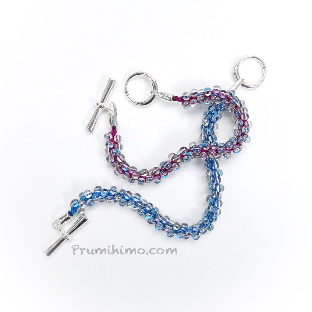 Kumihimo bubble bracelet