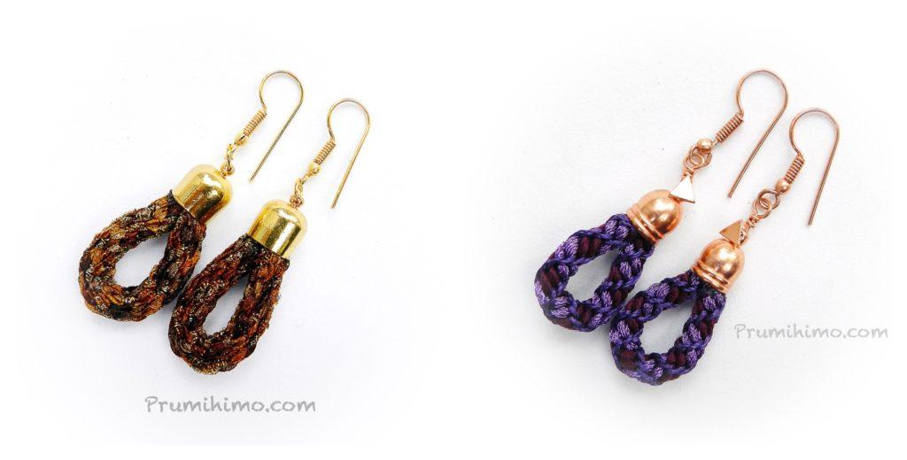 kumihimo loop earrings