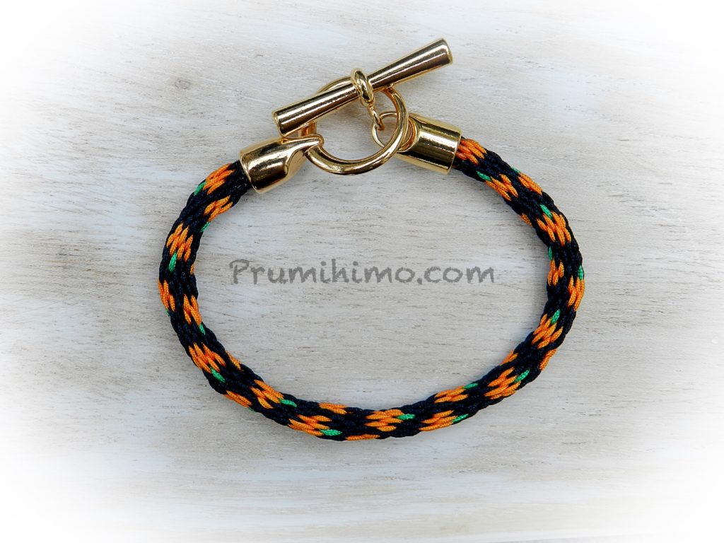 Pumpkin kumihimo bracelet
