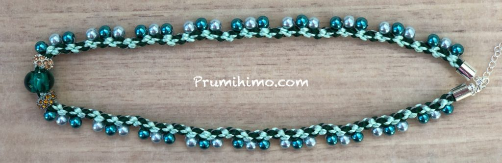 Prumihimo pearl necklace