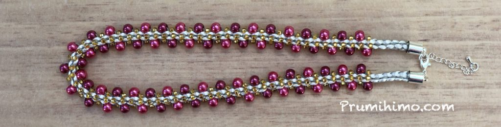 Red Pearl Prumihimo Necklace