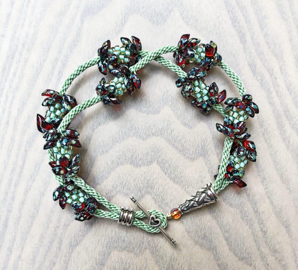 Beaded Cluster Double Bracelet