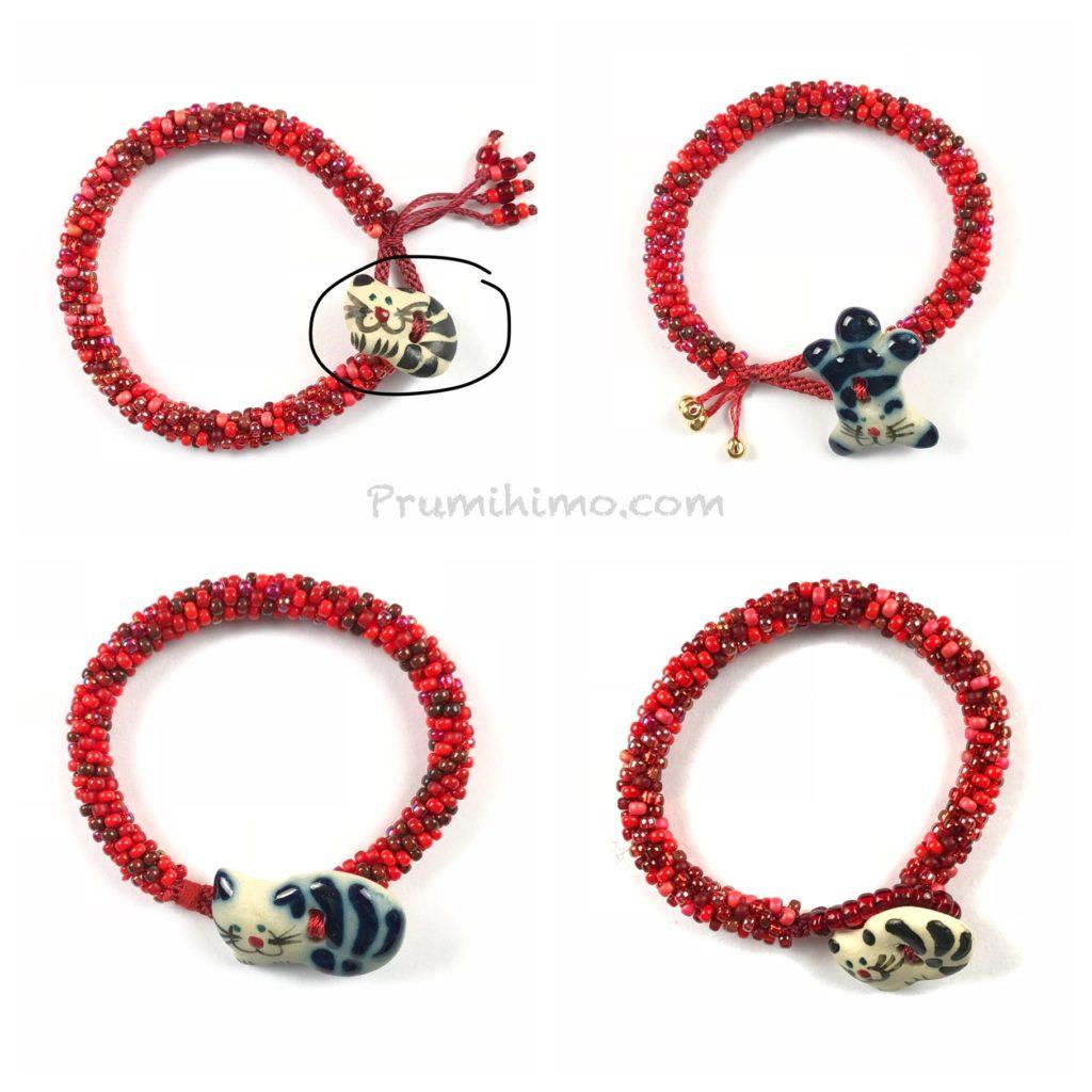kumihiimo cat bracelet