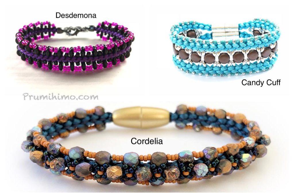 Prumihimo bracelets