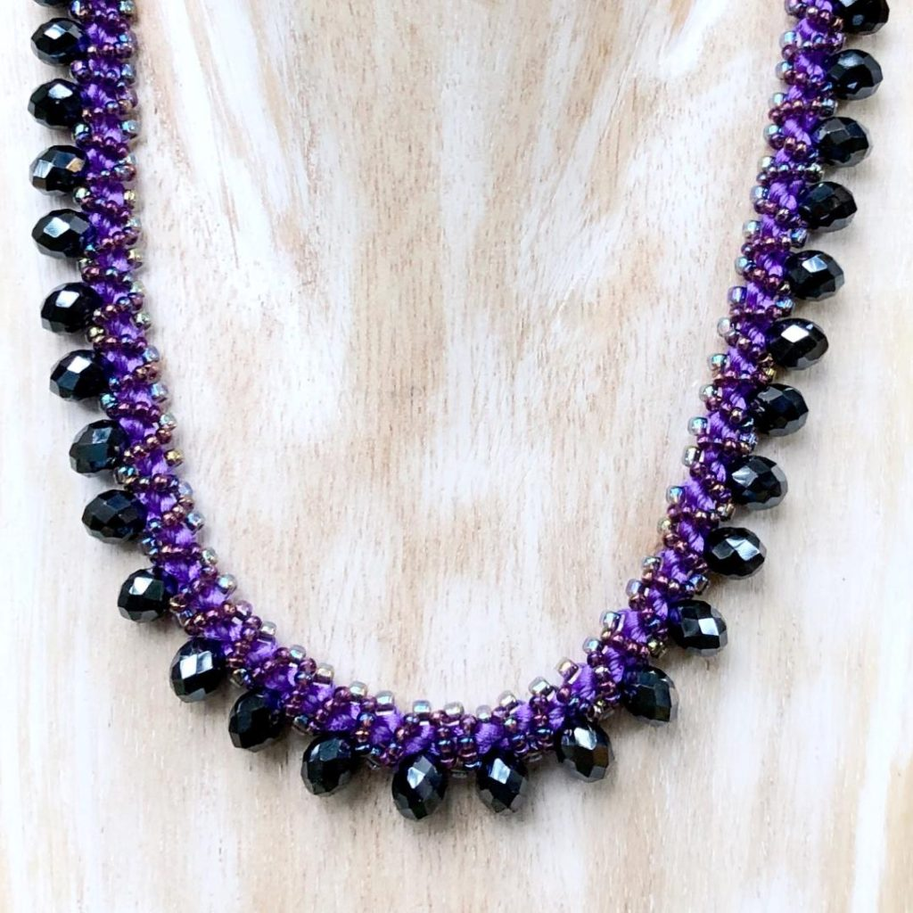 Dark Lilac Opulence Necklace