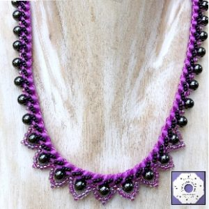 Prumihimo Viola Necklace