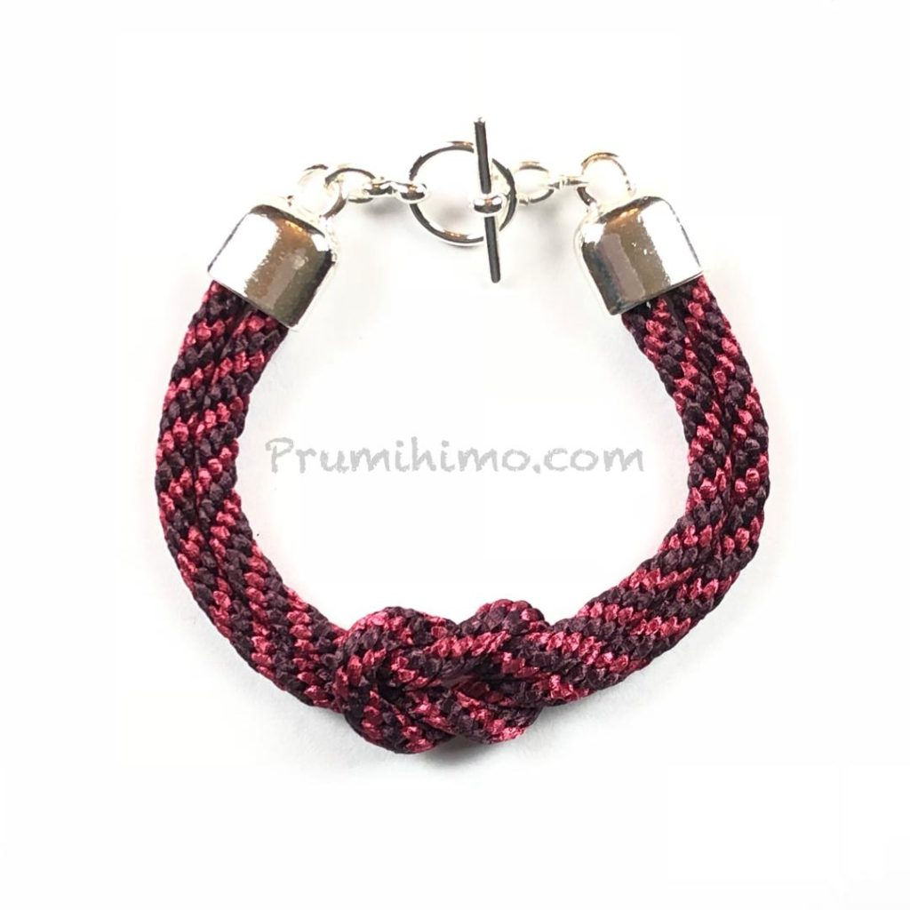 knotted kumihimo bracelet