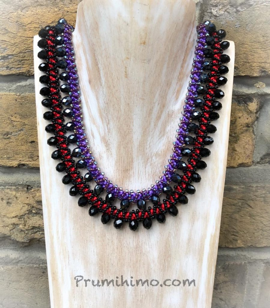 Opulence Prumihimo necklaces