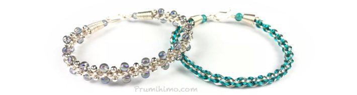 Wire kumihimo designs