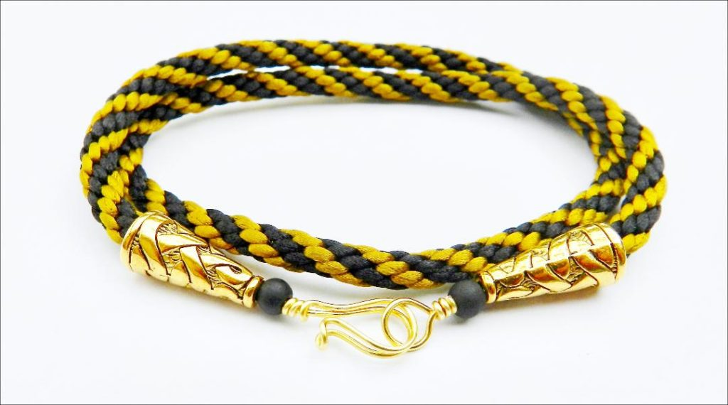 Kumihimo double bracelet