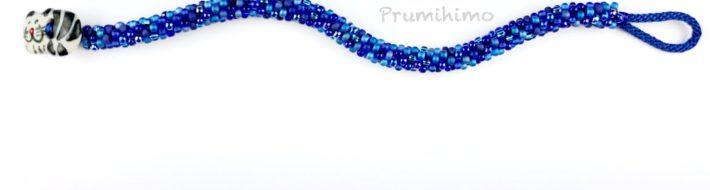 Blue cat button bracelet