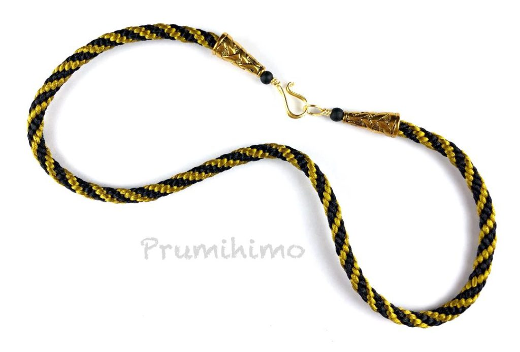 Stripe kumihimo necklace