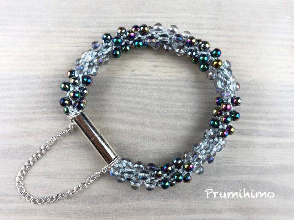 Silver banded bracelet