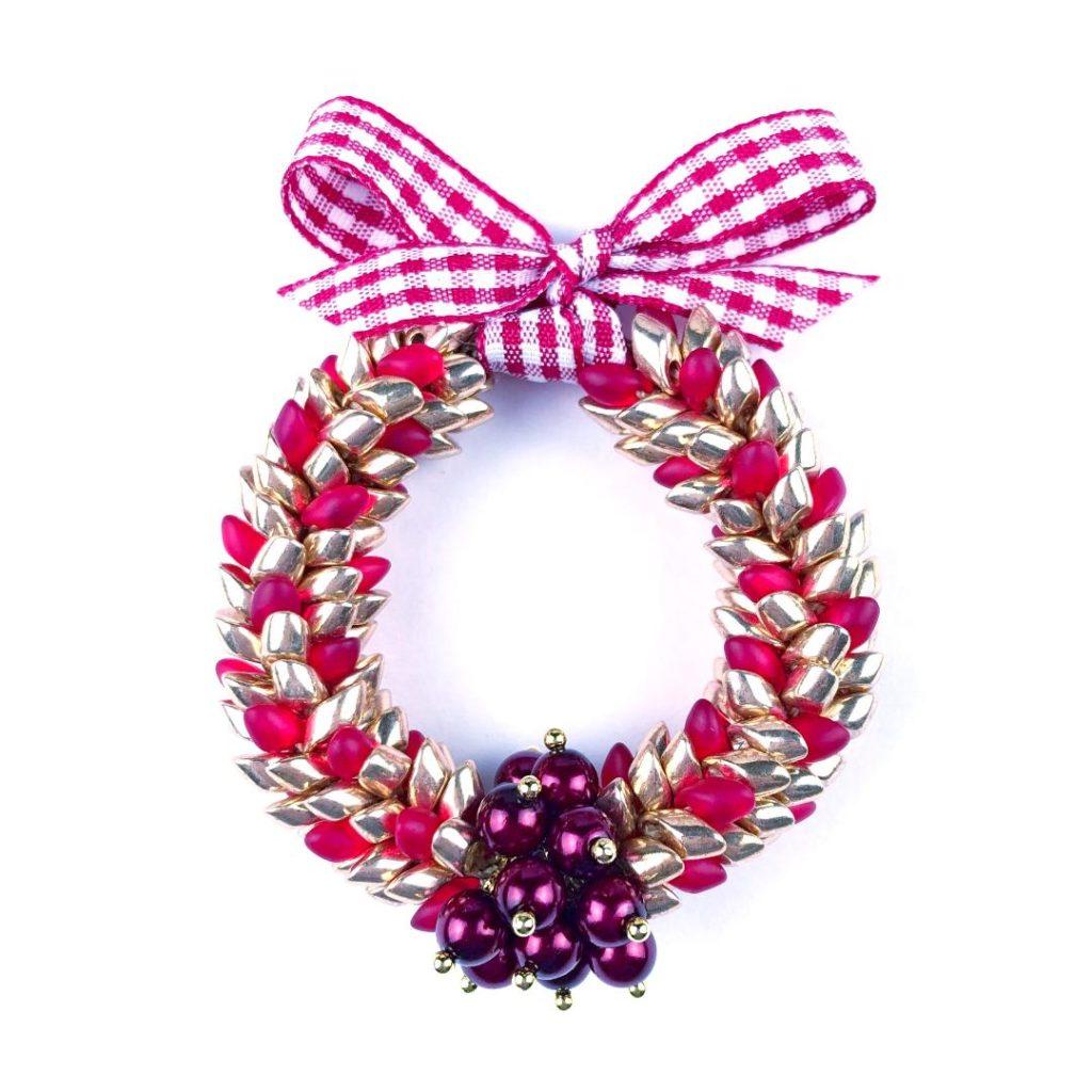 Kumihimo wreath
