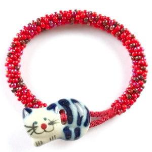 Cat Button Bracelet